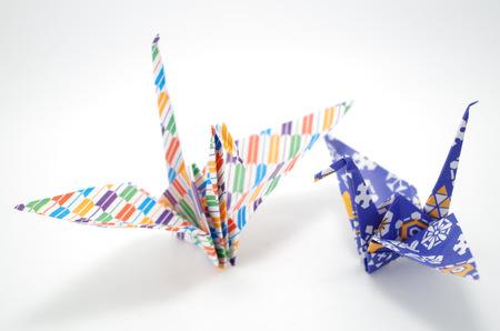 cultura japonesa de la grúa de Origami Foto de archivo