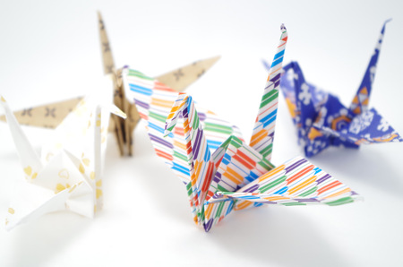 knack: Japanese culture Origami of the crane Stock Photo