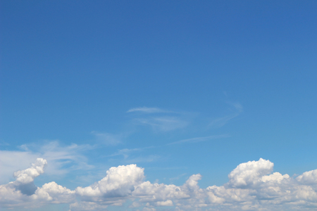 The summer cloud spreading in the blue sky Stock Photo