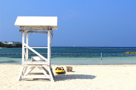 The quiet beach of the resort