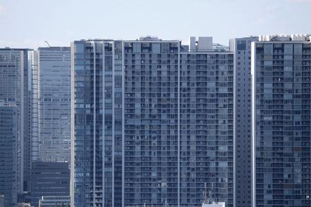 High-rise apartment in the Tokyo coastal area Banco de Imagens