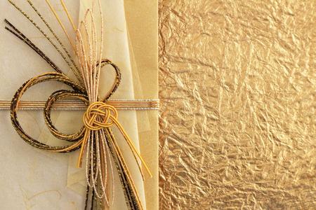Close-up photograph of a celebration bag that imaged Japan's celebration