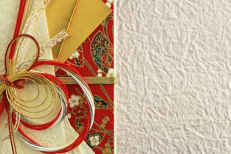 Close-up photograph of a celebration bag that imaged Japans celebration 스톡 콘텐츠