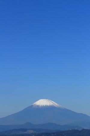 Fuji background material unified in blue