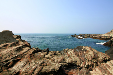 Sea view seen from rocky coast