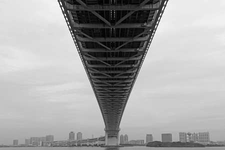 Tokyo Bay Rainbow Bridge I looked up from the bottom