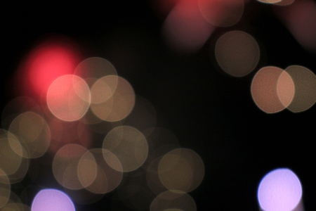 A broken light image of a fireworks