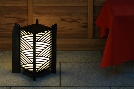 Japanese lanterns placed at the entrance of Japanese style architecture