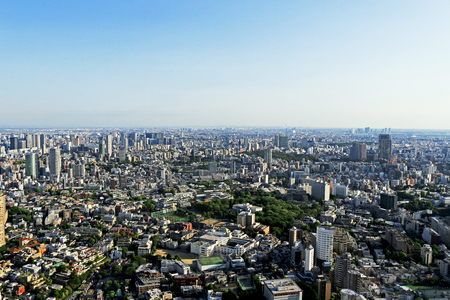 View of residential area in Tokyo