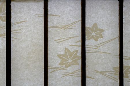 Japanese traditional interior paper sliding door Shoji in an old house