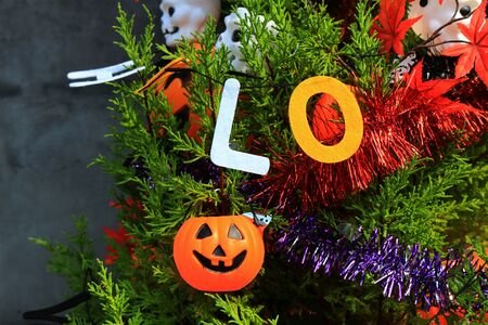 Still life of decoration that imaged Halloween