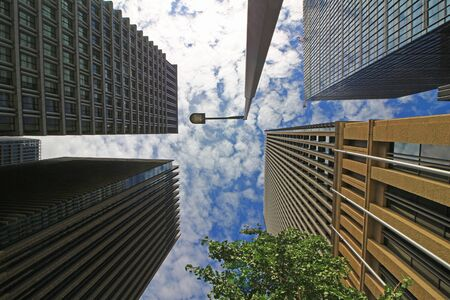Buildings with all designs in Marunouchi, Tokyo Stockfoto