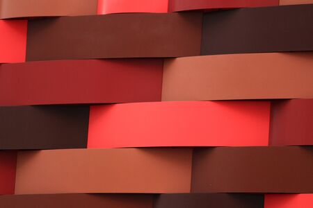 Wall of geometric pattern characterized by red gradation