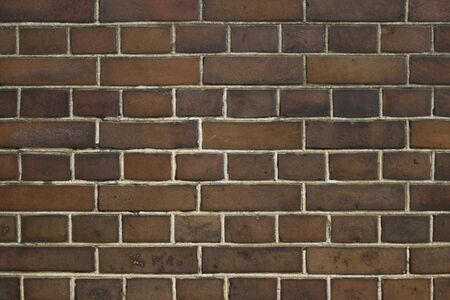 Photo of old brick wall for background material