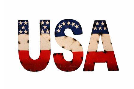 U.S.A logo figurine with American flag painted