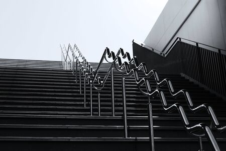 Scenery of stairs going from underground to above ground