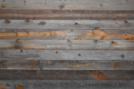 Antique plank wall as background material