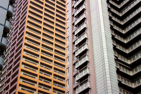 Urban cityscape with condominiums