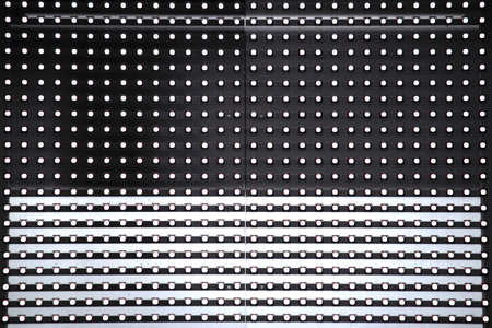 Close up photo of LED lighting signboard with many light particles