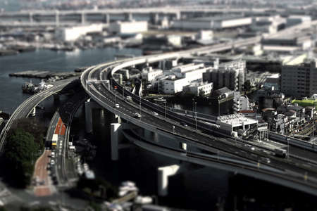 Diorama style photo of the highway