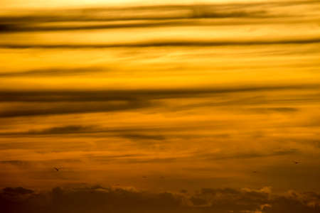 Photograph of the sunset sky dyed in orange as a background material