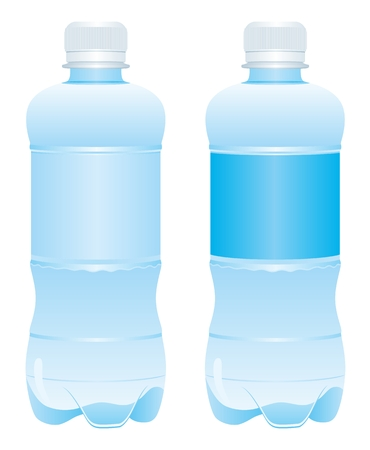 water bottle: Пластиковая бутылка воды Вектор Illustration