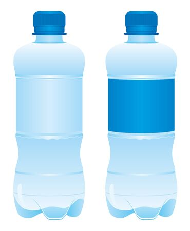 Plastic bottle of water Vector Illustration