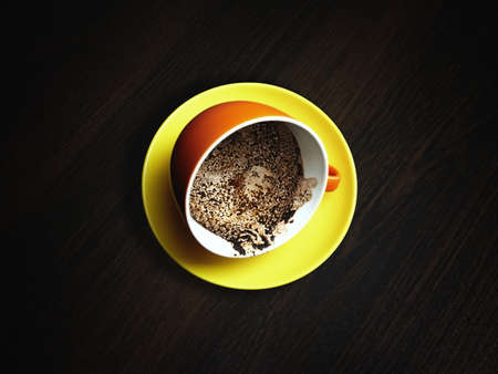 che guevara: coffee fortune-telling with a portrait of Che Guevara Stock Photo