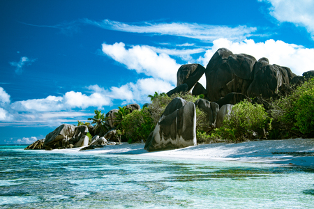 The most beautiful beach of Seychelles - Anse Source DArgent