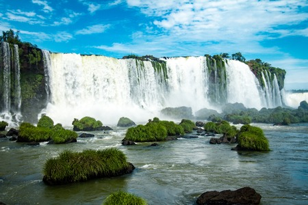 The Amazing waterfalls of Iguazu in Brazil 免版税图像