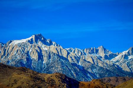 sierra snow: Mount Whitney, California Stock Photo