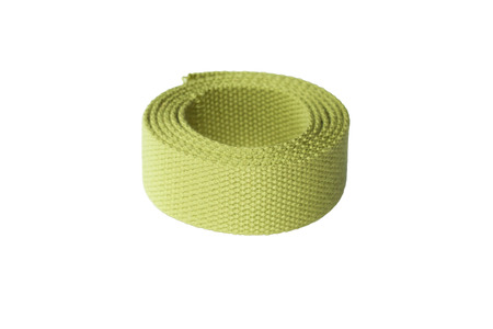 Lime Green Cotton Webbing isolated on white background