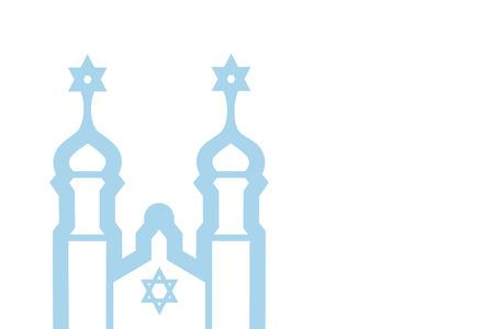 synagogue: Vector illustration of synagogue, vector eps 10 background