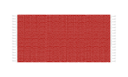 red rug: Red carpet vector illustration, isolated on white background. Rug top view.