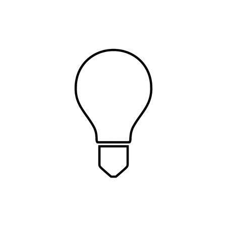 lumen: Light bulb icon isolated on white. Vector.