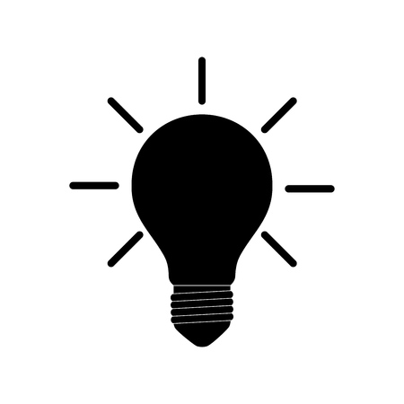 Light bulb icon isolated on white. Vector.