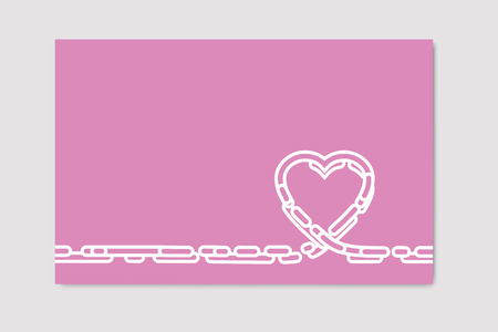 greeting card background: Vector heart background. pink greeting card template