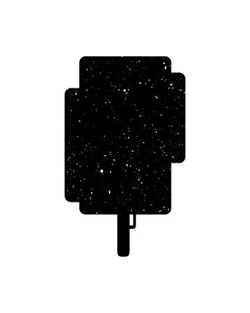 Árbol icono sobre fondo blanco, ilustración vectorial