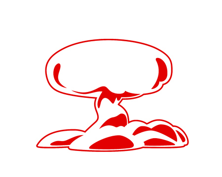 Explosion Icon Vector. Mushroom cloud, silhouette. Flat vector web icon or sign