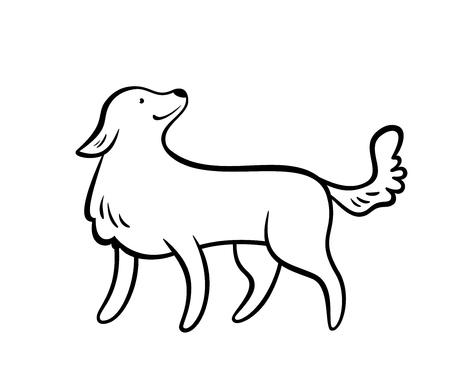 Vector frendly dog, isolated on white background
