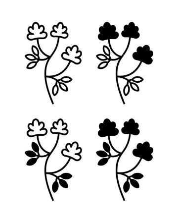 Alfalfa, Medicago sativa, lucerne. Vector illustration of alfalfa plant with flowers isolated on white background.