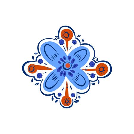 Decorative folk pattern element. Eastern European print.