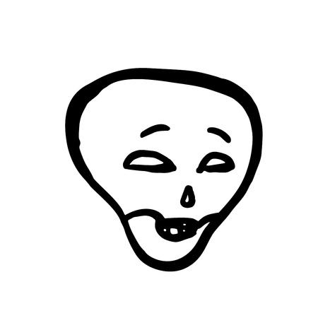 Cunning skull. Halloween vector illustration isolated on white Illustration