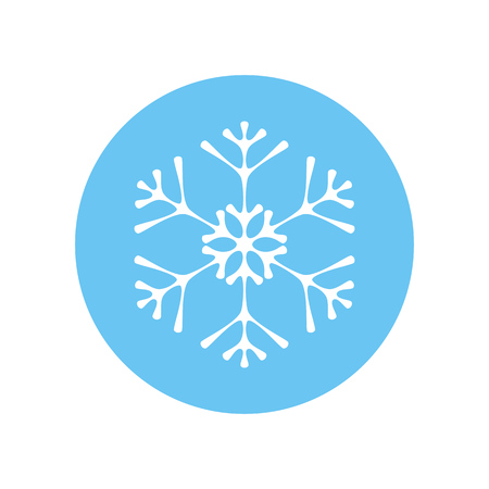 Elegant colorful snowflake vector icon isolated on white Standard-Bild - 126371516