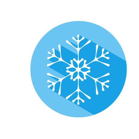 Elegant colorful snowflake vector icon isolated on white Ilustração