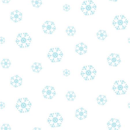 Christmas colorful seamless pattern with elegant snowflakes Standard-Bild - 126371518