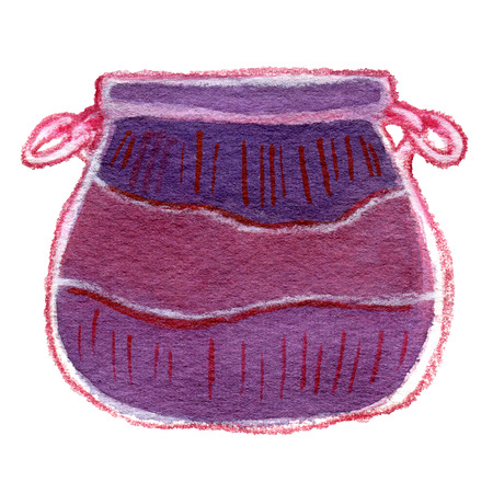 Watercolor cauldron illustration isolated on white background