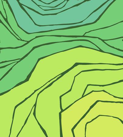 Riso o piantagione di tè sul campo di cascate, illustrazione vettoriale, vista dall'alto
