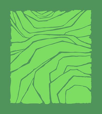 Rice or tea plantation on cascades field, vector illustration, top view Ilustração Vetorial
