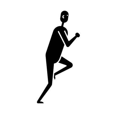 Running man flat icon isolated on white background Archivio Fotografico - 133430733